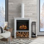 Black Corner Electric Fireplace Inspirierend Rustic Fireplaces Heating Venting Cooling The Home Depot