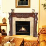 Fireplace Liners Schön Cortina 48 In X 42 In Wood Fireplace Mantel Surround Fireplace