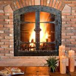 Masonry Fireplace Doors Genial 68 Best Fireplace Ironwork Images On Pinterest Fire Places