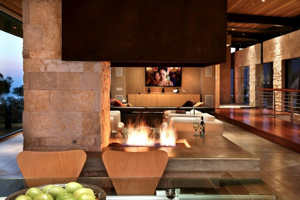 Modern Tile Fireplace Genial Modern Open Fireplace Modern Living Rooms with Wonderful Views