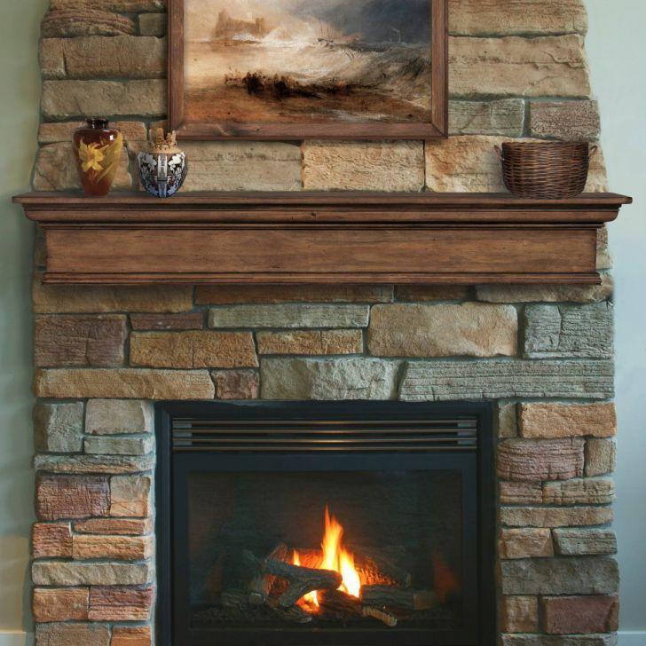 23 Unique Rustic Fireplace Mantel Shelf Images