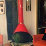 Standalone Fireplace Luxus Mid Century Modern Cherry Red Preway Retro Cone Freestanding