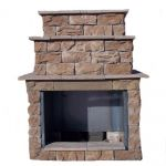 Two Sided Fireplace Indoor Outdoor Best Of Outdoor Fireplaces Outdoor Heating the Home Depot